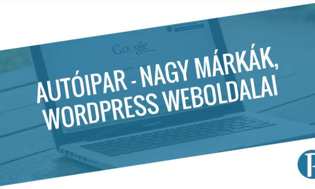 Autóipar – Nagy márkák, akik WordPress weboldalt használnak