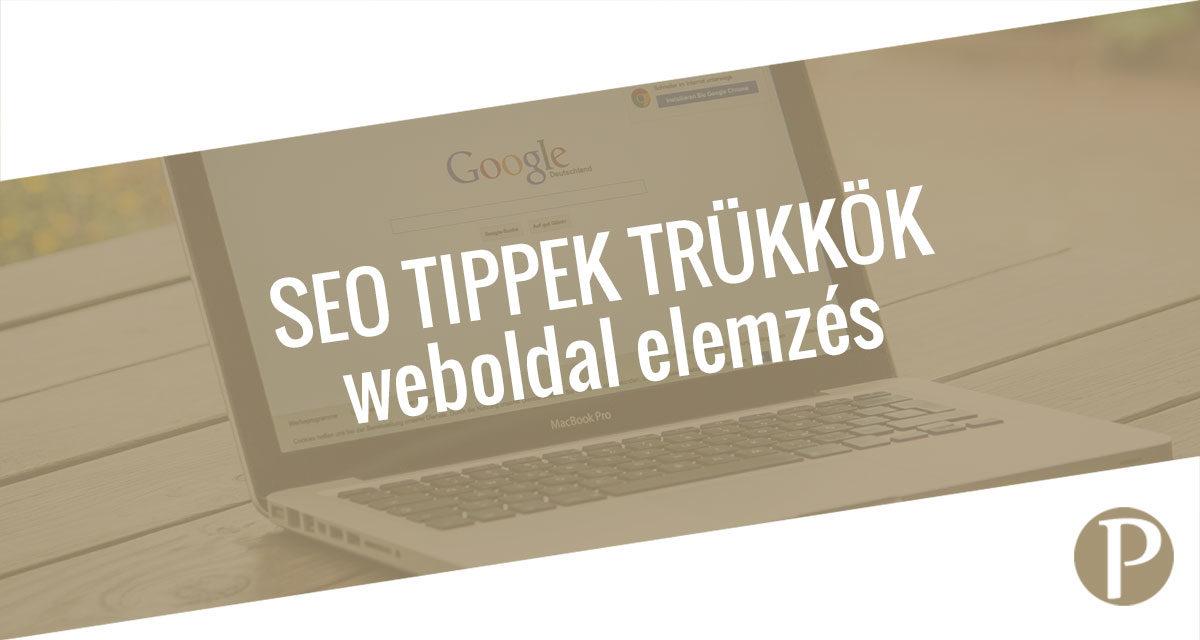 Weboldal elemzés a Google-től: web.dev – SEO tippek és trükkök
