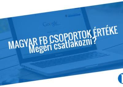 Facebook csoport - közösségi média, marketing