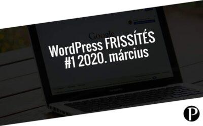 Havi jelentés a frissítést igénylő pluginekről – #1 2020. március