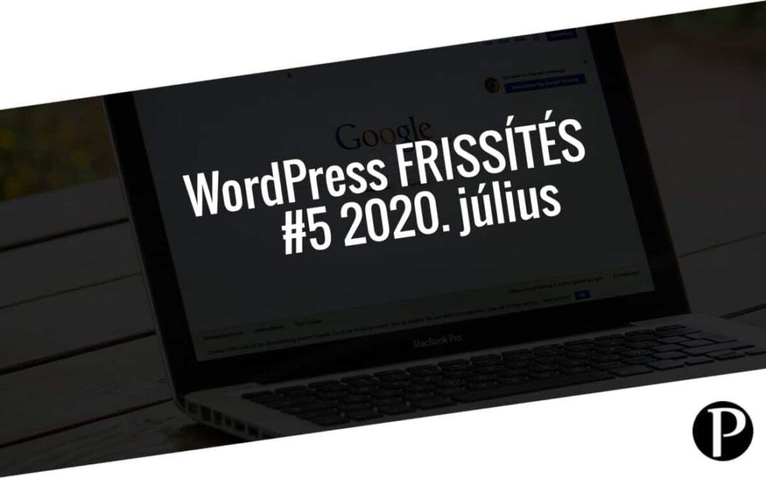 Havi jelentés a frissítést igénylő pluginekről – #5 2020. július