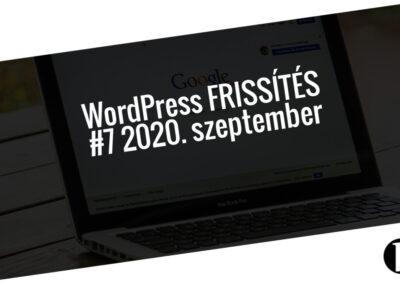 Havi jelentés a frissítést igénylő pluginekről – #7 2020. szeptember
