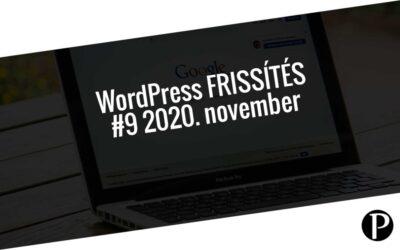 Havi jelentés a frissítést igénylő pluginekről – #9 2020. november