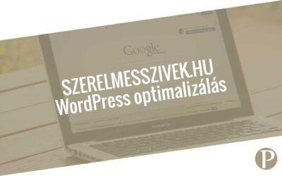 SzerelmesSzivek.hu WordPress optimalizálás