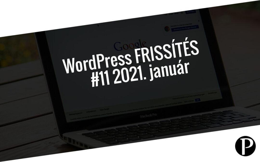 Havi jelentés a frissítést igénylő pluginekről – #11 2021. január